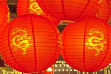 Free Red Lanterns Royalty Free Stock Images - 24699259