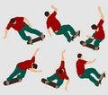 Free Skateboarder  Silhouettes Stock Photos - 2478983