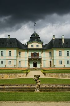 The Baroque Castle Manetin Stock Images