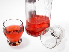 Bottle With Alcohol Stock Images
