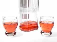 Bottle With Alcohol Stock Image