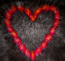 Free Red Heart,generated Explosion Stock Photo - 2471730
