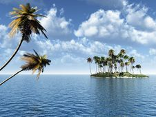 Free Palm Island Royalty Free Stock Photos - 2471748