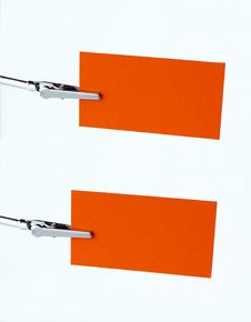 Free Orange Notice-card On Clip Stock Images - 2471804