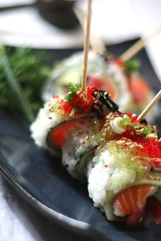 Free Skewered Sushi Dish 4 Stock Photo - 2472200