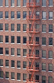 Free Red Fire Escape Royalty Free Stock Image - 2472666