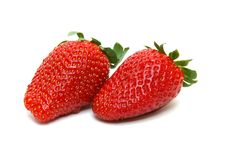 Free Two Delicious Strawberries Royalty Free Stock Images - 2473629