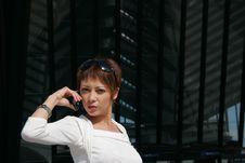 Free Woman Telephoning Royalty Free Stock Photo - 2474195