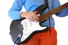 Free Electric Guitar Playing Royalty Free Stock Photo - 2474525