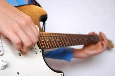 Free Guitar Playing Stock Image - 2474591