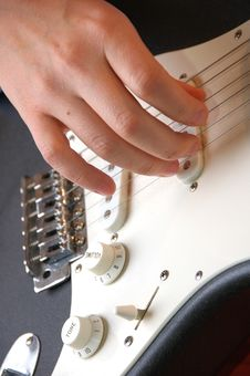 Free Playing Guitar-closeup Stock Image - 2474601