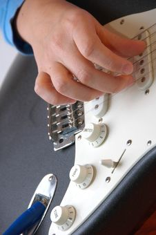 Free Playing Guitar-closeup Royalty Free Stock Photography - 2474607