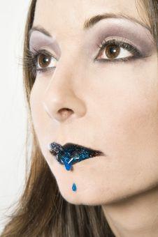 Free Bleeding Blue Lip Stock Photos - 2474723
