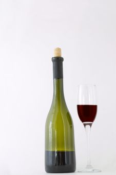 Red Dessert Wine Stock Photo