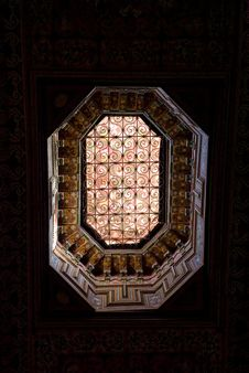 Light Form A Roof In A Palace Royalty Free Stock Photo