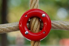 Free Rope Holder In The Playground Stock Image - 2477271