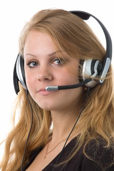 Free The Girl-operator Royalty Free Stock Photography - 2478197