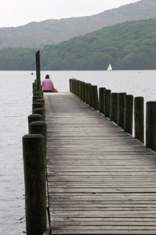 Quay At Coniston Royalty Free Stock Image