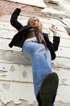 Free Blonde Girl Falling Royalty Free Stock Photos - 2478948