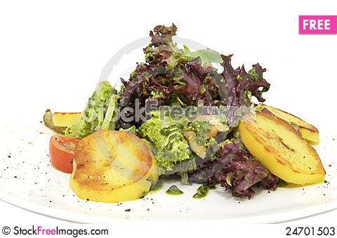 Free Potato Salad And Greens Stock Photos - 24701503