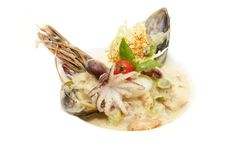 Salad With Seafood Stock Photography