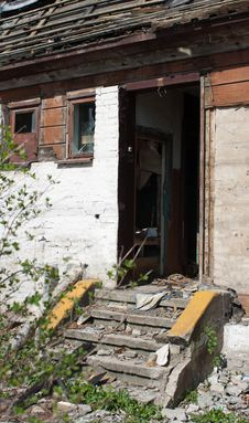 Free Room Of Abandoned Broken House Stock Photography - 24702042
