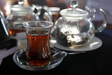 Traditional Turkish Tea Royalty Free Stock Photos