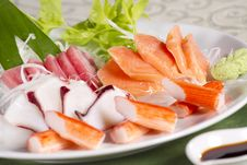 Free Mix Sashimi Stock Image - 24702861