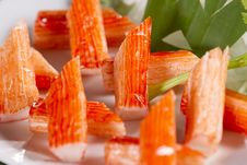 Free Crab Stick Royalty Free Stock Photography - 24703127