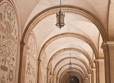 Free Arch In The Cloister In Montserrat Stock Photos - 24703343