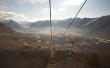 Free Mountains From 	Cable Car Royalty Free Stock Photo - 24705005