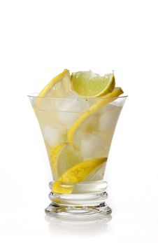 Free Yellow Cocktail With Lemon Stock Images - 24705784