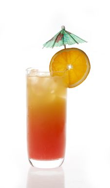 Free Tequila Sunrise Cocktail Royalty Free Stock Photo - 24705825