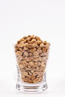 Free Peanuts In A Glass Royalty Free Stock Photos - 24708808