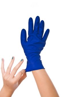 Free Latex Glove Royalty Free Stock Images - 24709099
