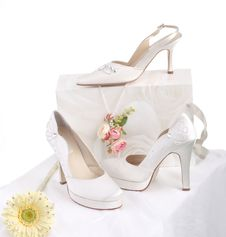 Free Bride S Shoes Royalty Free Stock Image - 24709186