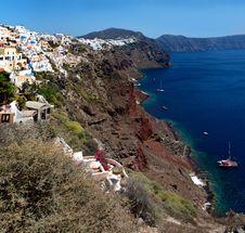 Free Coast Of The Island Of Santorini Stock Image - 24709201