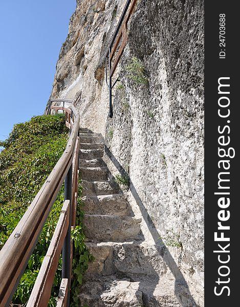 Stone path stairs