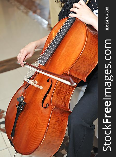 Playing the cello at opera