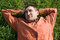 Free Young Man Lying On The Grass Royalty Free Stock Photo - 24709075