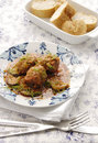 Free Meatballs With Zucchini In Tomato Sauce Royalty Free Stock Photography - 24716817