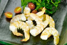 Free Boiled Shrimps Royalty Free Stock Photography - 24710807