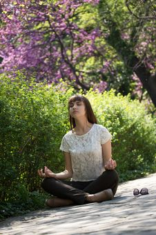 Meditating Girl Stock Photo