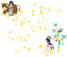 Free Orihime And Hikoboshi Royalty Free Stock Photos - 24712088
