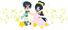 Free Orihime And Hikoboshi Royalty Free Stock Image - 24712096