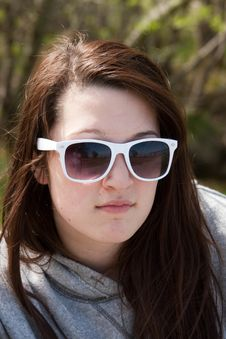 Free Teen Girl In Sunglasses Royalty Free Stock Photo - 24714395