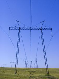 Free HIGH-VOLTAGE LINE. Stock Images - 24715324