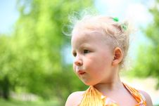 Free Portrait Of Blond Child Royalty Free Stock Photos - 24715718