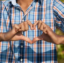 Free Young Man Show Love Sign Stock Photography - 24715892