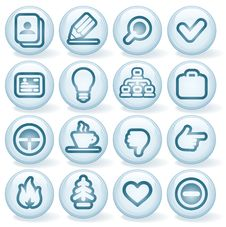 Free Shiny Round Icons 1 Stock Photography - 24716362